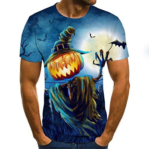 T Shirt Men Clothes Mens Summer Skull Print Men Short Sleeve T-Shirt 3D Print T Shirt Casual Breathable Funny T Shirts S Txu-1212