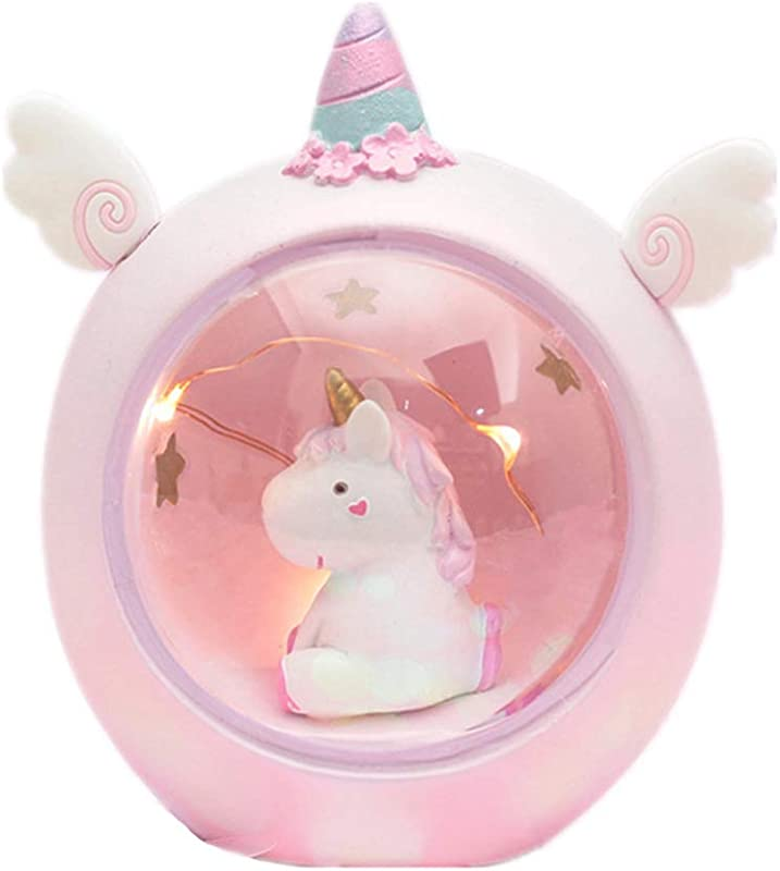 Baby Night Light Cute Pink Unicorn LED Resin Night Light For Kids Baby Girls Toy Creative Home Decoration As A Birthday Christmas Valentine S Day Gift