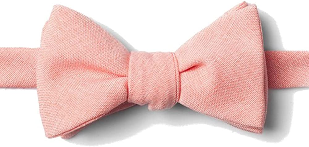 Mens Tioga Coral Cotton Weave Butterfly Self Tie Bow Tie