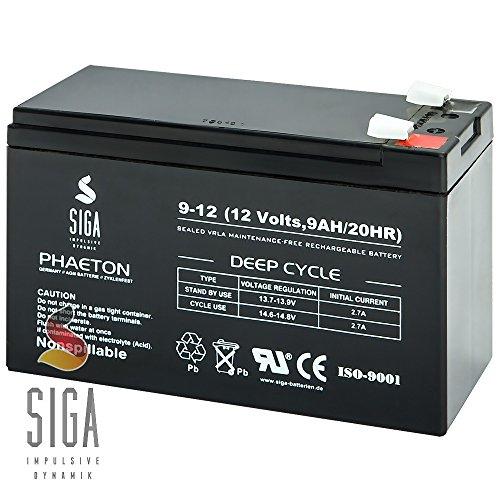 Akku 9Ah 12V AGM Blei Gel Hochstrom Batterie Echolot Lowrance Eagle Humminbird Pedelec Elektro Fahrrad Rasenmäher 7ah