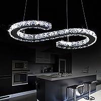 -ペンダントライト S型豪華なモダンなクリスタルのLEDシャンデリア、現代の家の天井のランプ、シャンデリアのシャンデリアの照明 ホーム (Color : White light)