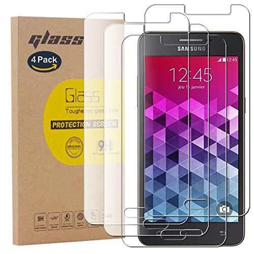 pinlu [4 Pack Protector de Pantalla de Cristal para Samsung Galaxy Grand...