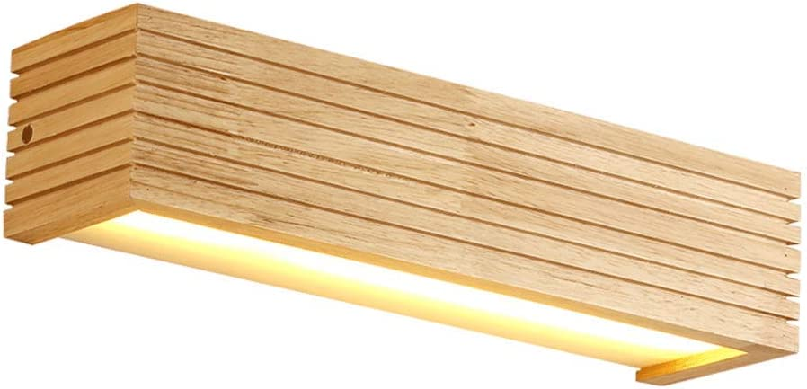 ZXT Nordic Striped Beauty products Solid Wood Free shipping anywhere in the nation Simple Lamp Wall Bedro Wooden