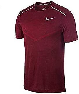 Nike Australia Men's TechKnit Ultra Short-Sleeve Running Top, Black/Team Red/Reflective Silver