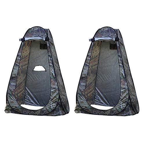 Cápsula emergente portátil grande, carpa plegable de privacidad instantánea Vestuario para acampar al aire libre Tienda de ducha para baño Refugio para lluvia, con bolsa de transporte, 150X150X190CM