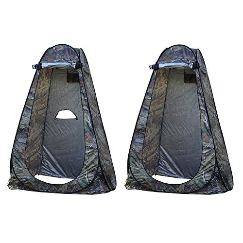 Large Portable Pop Up Pod, Foldable Instant Privacy Tent Changing Room Outdoor Camping Toilet Shower Tent Rain Shelter, Waterproof Sturdy with Carry Bag, 120x120x190CM/150X150X190CM
