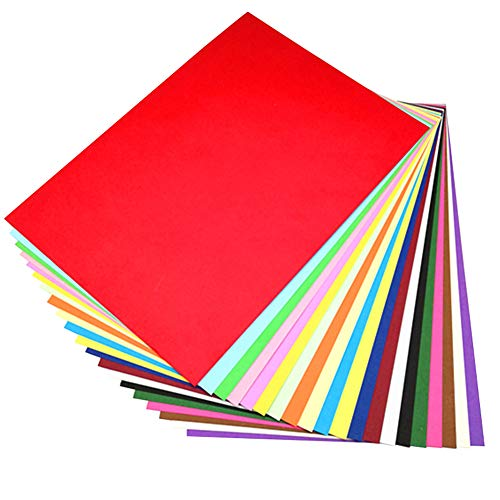 Coloured Card A4, Coloured Paper (Pack of 100 Sheets), 20...