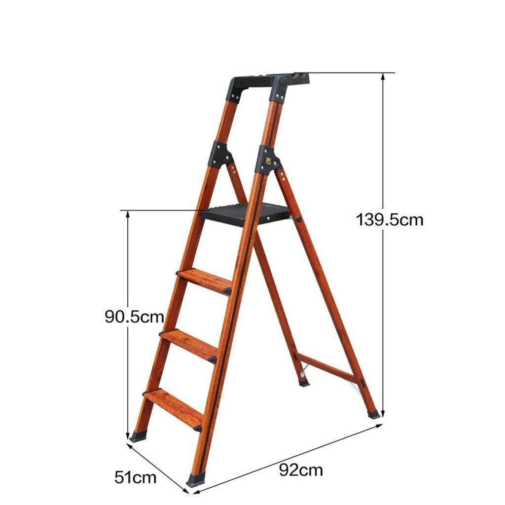 Las escaleras de tijera de interior, de tres pasos de escalera de cuatro pasos de escalera antideslizante metal Escalera Dormitorio Estantería doble finalidad de escalera Caja de Herramientas de diseñ: Amazon.es: Coche