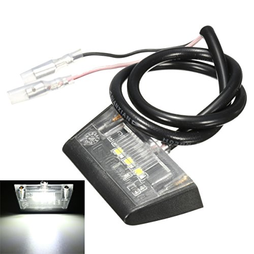 ILS - 12V 3 LED Number License Rear Plate Light voor motorcycle Quad Bike E-merk