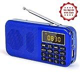 Radio J-725C Portable Radio-réveil FM/MP3/SD/USB/Horloge PRUNUS avec Batterie de...
