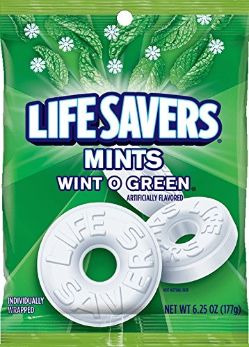 Life Savers Wint O Green Mints Candy Bag, 6.25 ounce