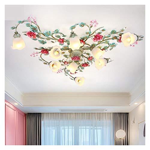 Plafoniera Rustico rurale Art Decor Flower luce di soffitto Illuminazione Soggiorno Camera da letto della luce di soffitto di sonno in camera Foyer Luce Decorazioni per interni