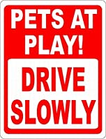 ゆっくり運転する メタルポスタレトロなポスタ安全標識壁パネル ティンサイン注意看板壁掛けプレート警告サイン絵図ショップ食料品ショッピングモールパーキングバークラブカフェレストラントイレ公共の場ギフト
