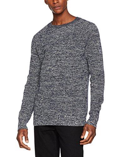 G-STAR RAW Herren Jayvi R Knit L/S Pullover, Mehrfarbig (Sartho Blue/Ivory 6503), Large