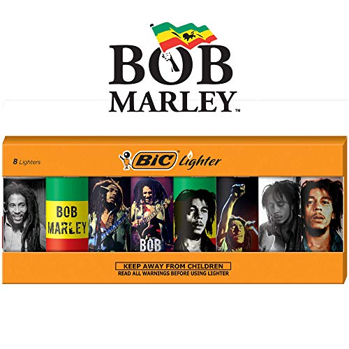 BIC Special Edition Bob Marley Series Lighters, Set of 8 Lighters