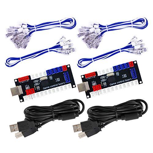 SJ@JX Arcade Game Controller USB Encoder Zero Delay 2 Player to Joystick Button for PC MAME RaspberryPi Retro