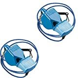 Fox 40 Classic CMG Whistle With Lanyard Referee Safety Alert, Blue (2-Pack)