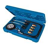 Silverline 953656 Comprobador de Compresión para Motores A Gasolina, Negro