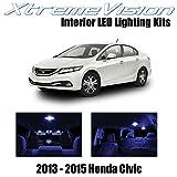 Xtremevision LED interior para Honda Civic 2013 – 2015 (8 piezas) azul interior LED Kit + herramienta de instalación