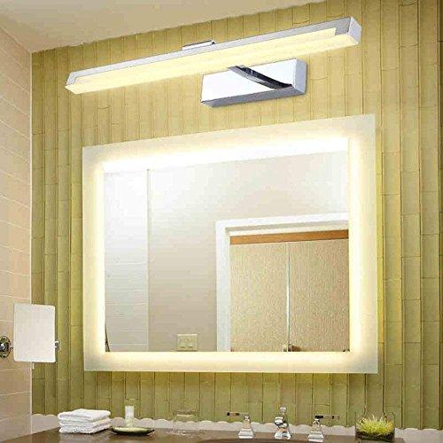 ZYL-IL Inicio Faros de baño Espejo de Pared Espejo Luces Luces Delanteras de baño de Acero LED Blanco cálido de la viruta del Bulbo Incluido, el Espejo del Faro, 54cm-22w