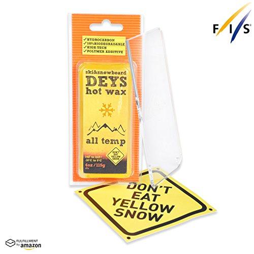 Snowboard / Ski Wax from DEYS (ALLTEMP) - Free Plexi Scraper. Gift Ready Combo