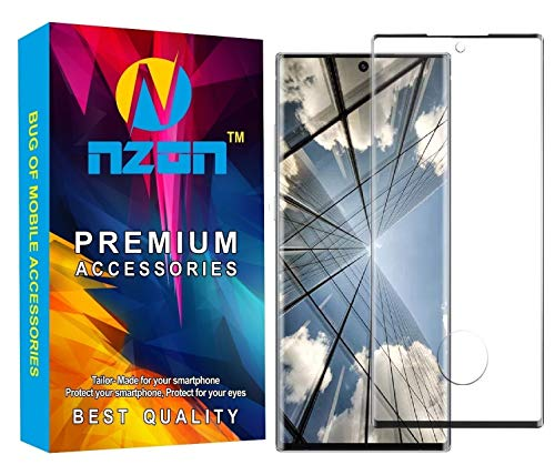 Nzon™ case Friendly 9h Hardness Anti Scratch Anti Explosion Edge to Edge Full Screen Coverage, 3D Front Full Coverage Tempered Glass Protector Compatible for Samsung Galaxy Note 20 Ultra (Black)