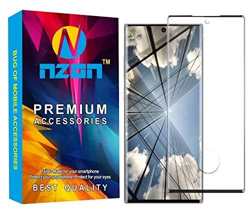 Nzon™ Edge to Edge Full Screen Coverage Curved Anti Glare Anti Fingerprint Full Glue Compatible for Samsung Galaxy Note 20 Ultra Tempered Glass - Black