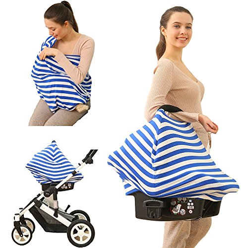 Sale!! Multi Use Infinity Nursing Scarf for Stylish Moms - Car Seat Canopy, Shopping Cart, and Strol...