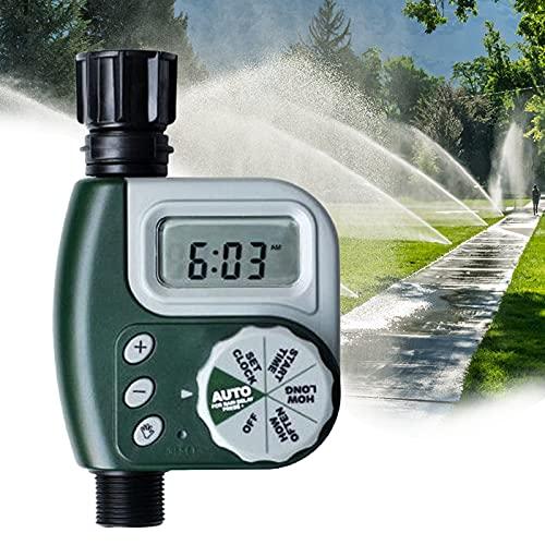 RoseFlower Timer Irrigazione, Temporizzatore Irrigazione con Impermeabile e Durevole, Programmatore Irrigazione Digitale a LED per Piante, Prato, Giardino #5