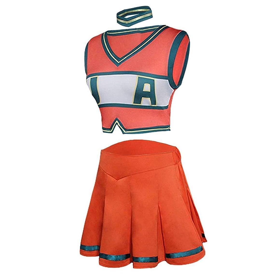 NoveltyBoy Boku No Hero Academia My Hero Academia Asui Tsuyu Cosplay Costume Cheerleader Cheerleading Uniform