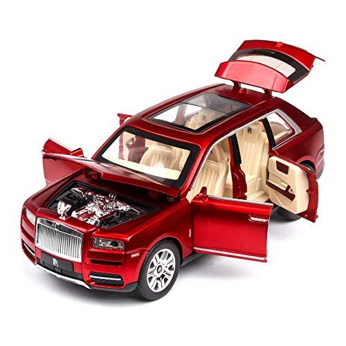 WCY Escala 1/24 Rolls-Royce Juguete Cullinan del Coche de Metal de la aleación del Coche con Las Luces |Alta de la simulación |1:24 |, Negro yqaae (Color : Red)