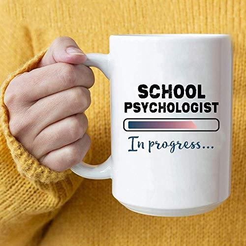 Psicólogo escolar en curso, estudiante en formación, taza de café, regalos