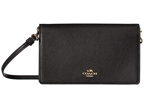 Coach Foldover Crossbody Bag One Size BLACK