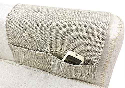 Organizador de reposabrazos de sofá con 4 bolsillos para cargador, libros, mando a distancia de TV, teléfono móvil, iPad, de fieltro para la cama, de noche