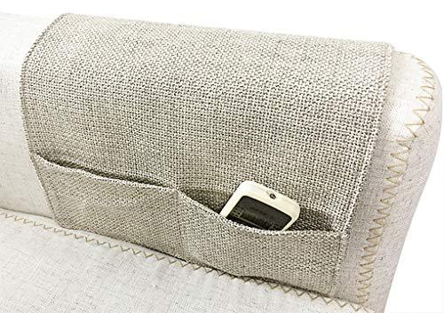 JIAHG - Borsa portaoggetti, da appendere, in tela, per divano e braccioli, per riporre telecomando TV, cellulare, occhiali, carta, salvaspazio, pieghevole, per soggiorno