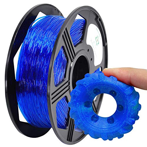 YOYI Filamento TPU 1,75 mm, TPU flessibile filamento 1,75 mm, TPU filamento stampante 3D flessibile 0.8 kg, Precisione Dimensionale +/- 0,02 mm (blue)
