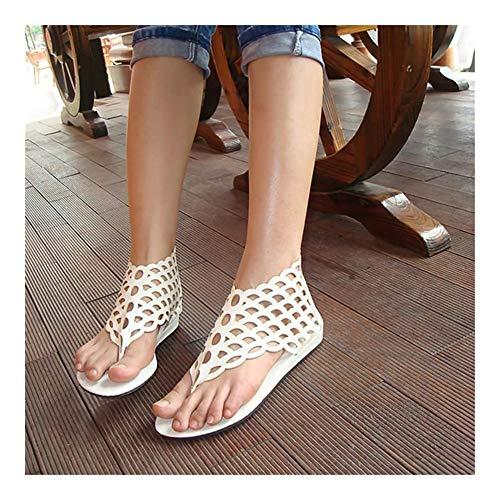 QLBF Sandalias de verano para mujer Casual Cómodas Verano sandalias planas de los zapatos de la playa del dedo del pie del clip del tirón de la mujer flops zapatos plano ocasional sandalias de los des