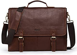 JJJJD Men 15 Inch Laptop Bag Travel Briefcase Organizer Expandable Large Shoulder Bag Business Messenger Briefcases Brown