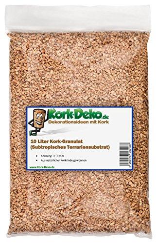 10 L Corcho granulado/terrarios substrat, 3 - 8 mm Seal, corcho de corcho natural geschroteter corteza Ganado. COMO terrarios de einstreu (, sustrato de suelos) de corcho de decoración