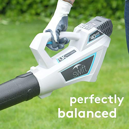 swift 40V Cordless Leaf Blower Lightweight Battery Powered Leaf Blower for Patio Lawn Garden with 2Ah Battery and Charger