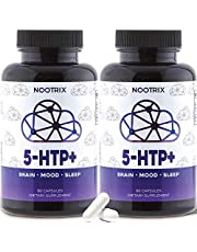 5-HTP+ by Nootrix - (2-Pack) 120 Capsules - 200mg Plus Calcium - Premium Serotonin Mood Booster - Rapid Stress Relief and Healthy Sleep Cycles - 99% Purity - Non-GMO, Gluten-Free