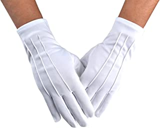 Men Police Formal Tuxedo Honor Guard Parade Nylon Cotton Gloves 26cm