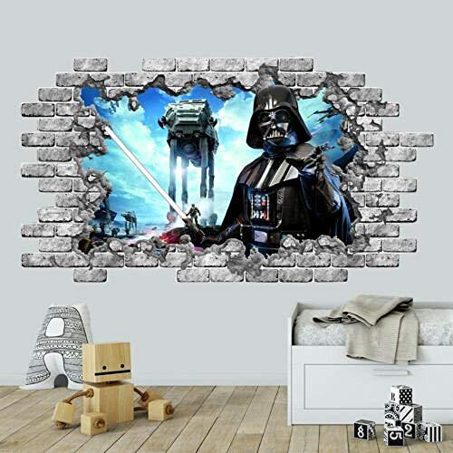 BAOWANG Wandtattoo Fototapete Star Wars Vinyl Aufkleber Jungen Schlafzimmer Wandbild Babyzimmer 3d