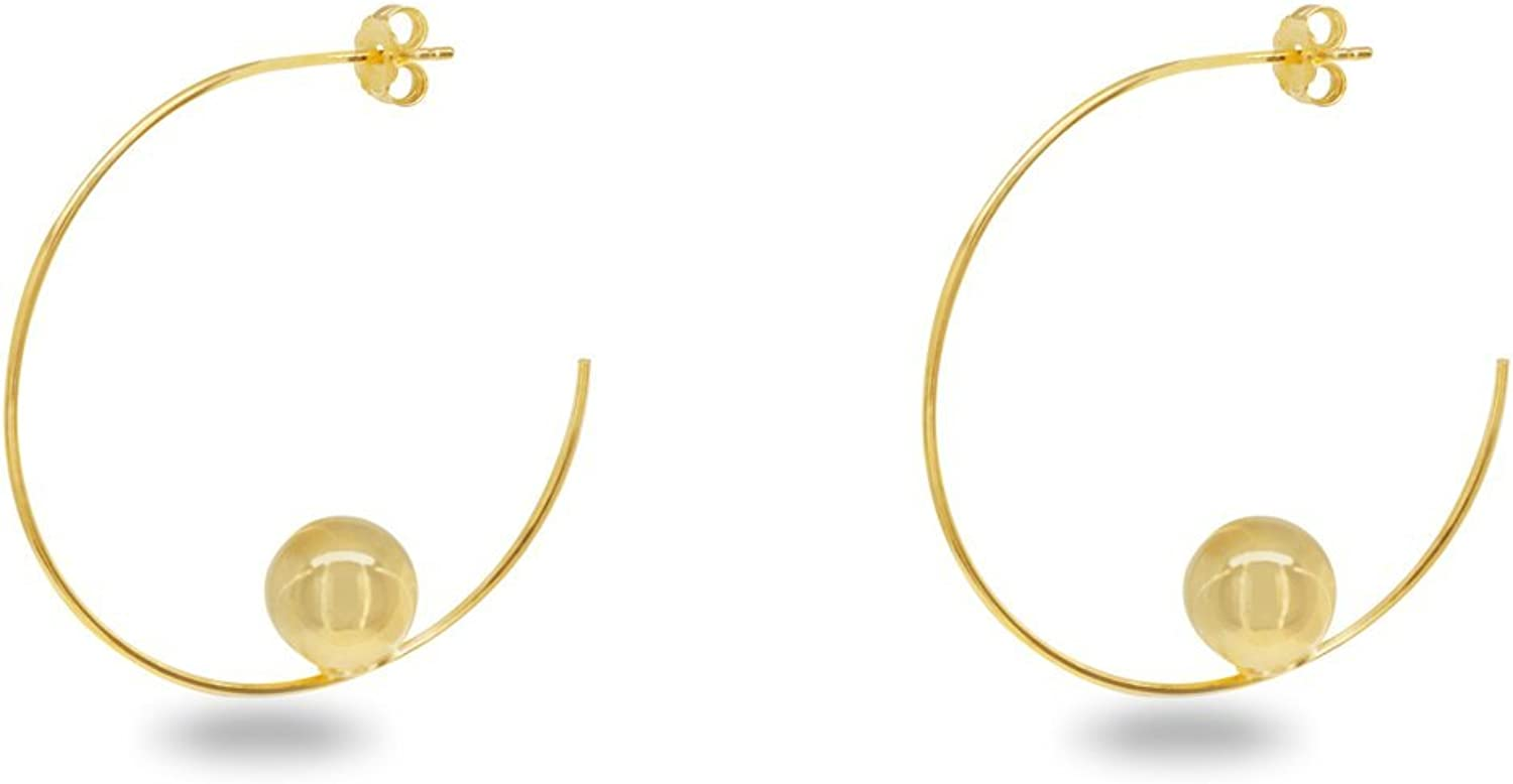 Fronay Co .925 Max 76% Max 77% OFF OFF Sterling Silver Globe dipped Earrings Tube i Hoop