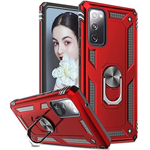 LeYi - Funda para Samsung Galaxy S20 FE (no compatible con Galaxy S20), Galaxy S20 Fan Edition / S20 Lite (4G/5G), color rojo