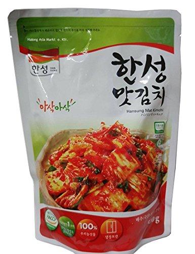 Original Koreanische Kimchi, frisch 500 g, Eingelegte Kohl Produkt aus Südkorea