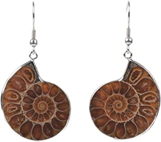 Justinstones Natural Ammonite Fossil Earrings