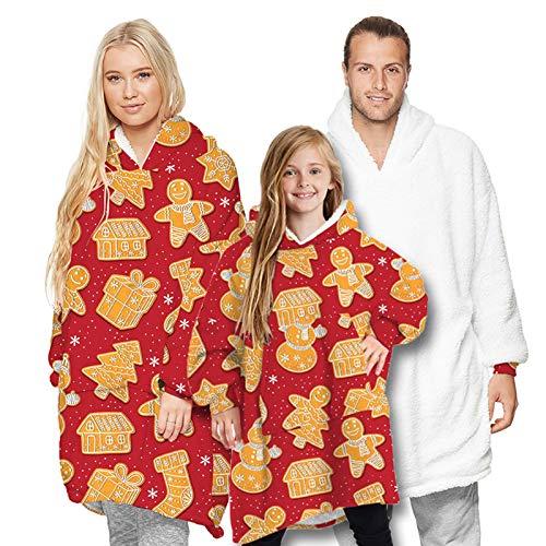 RHSML Manta de gran tamaño con capucha para mujer, cómoda manta con capucha, regalo de cumpleaños, proporcionando a las niñas con suave forro polar de microfibra y mantas portátiles (adulto, B)