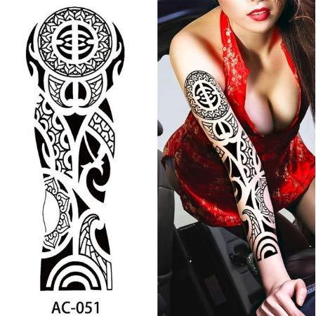 Tatouages imperméables de Manche de Tatouage temporaire de Bras Complet pour Les Hommes Cool Femmes Tatouages Autocollants sur Le Corps