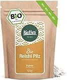 Reishi Pulver (Bio), 125g - Ganoderma lucidum - Glänzende Lackporling - Vitalpilz - Pilz der...